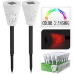 Felinar pe baterie solara, schimbarea culorii