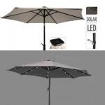 Umbrela pentru terasa D270cm, lumina solara 24 LED pe spite